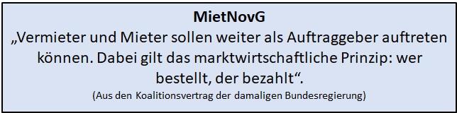 MietNovG - Bestellerprinzip - wer bestellt der bezahlt